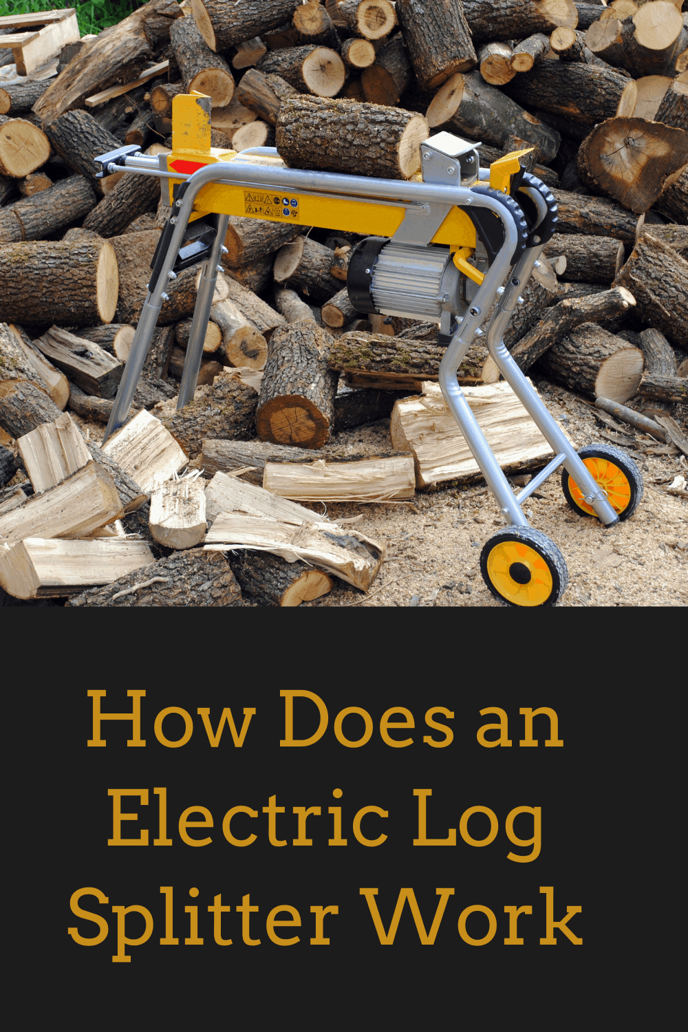 how to use an electric log splitter
