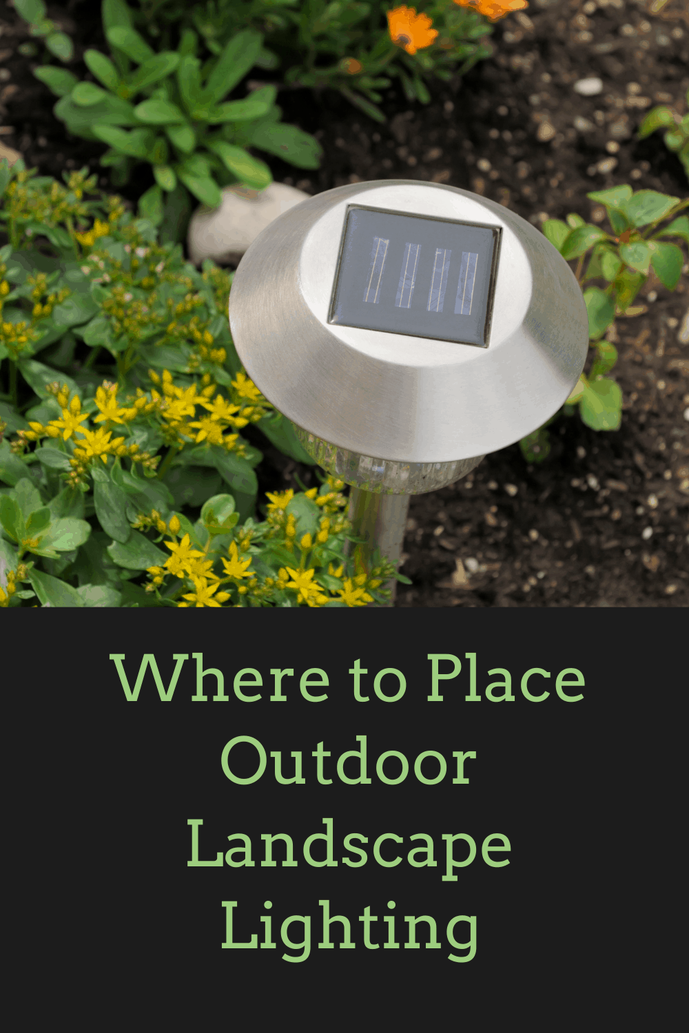 where to place outdoor landscape lights solar light in flower bed