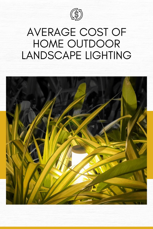 cost of landscape lighting landscape light in bush